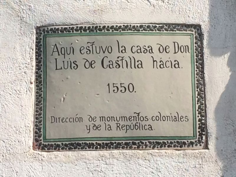 House of Luis de Castilla Marker image. Click for full size.
