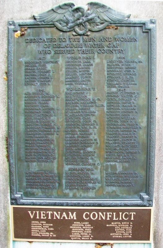 War Memorial Marker image. Click for full size.