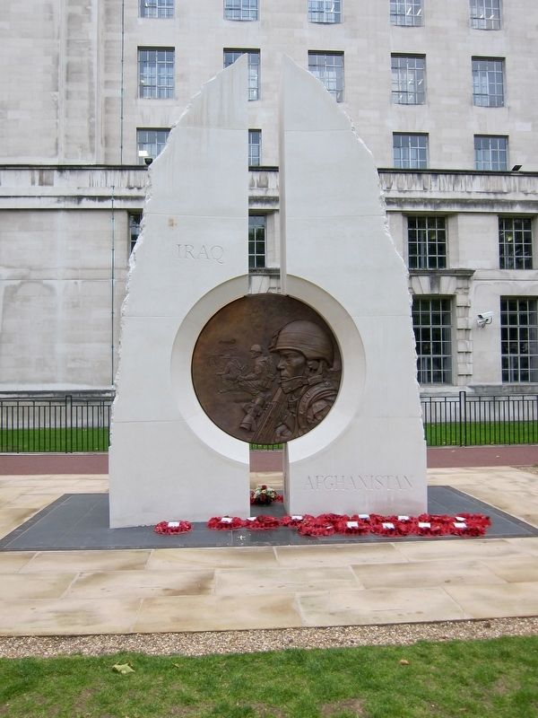 Iraq and Afghanistan Memorial - Obverse image. Click for full size.