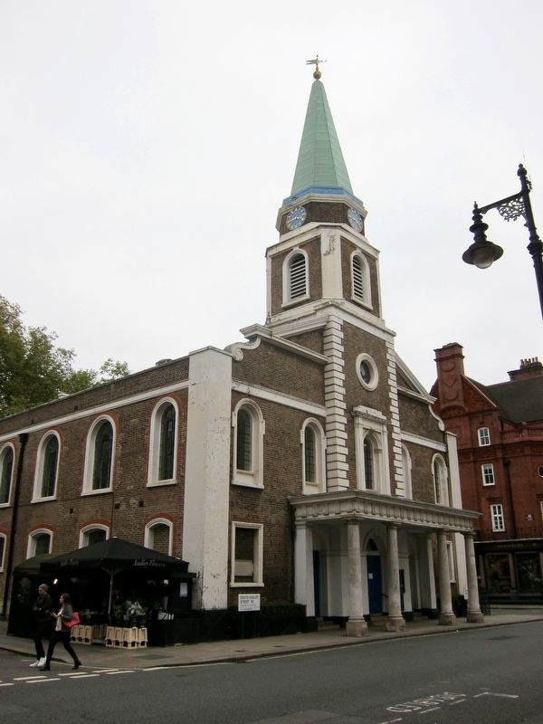 Grosvenor Chapel and Marker image. Click for full size.