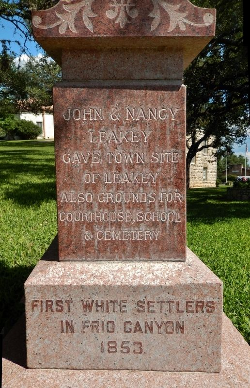 John & Nancy Leakey Memorial detail (<i>near marker</i>) image. Click for full size.