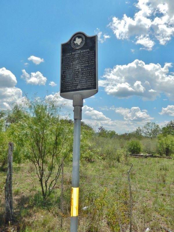 Site of Old Taylor School Marker image. Click for full size.