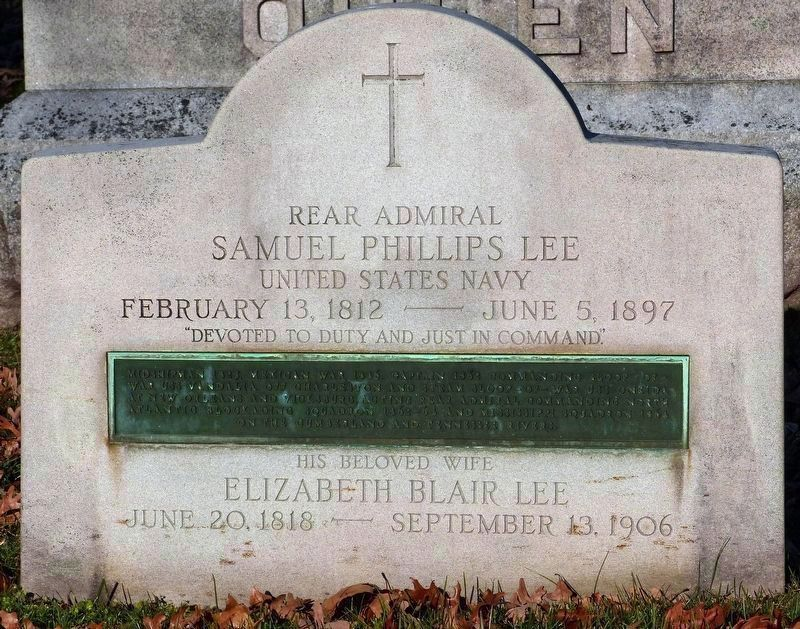 The Grave of R. Adm. Samuel Phillips Lee and Elizabeth Blair Lee in Arlington National Cemetery image. Click for full size.