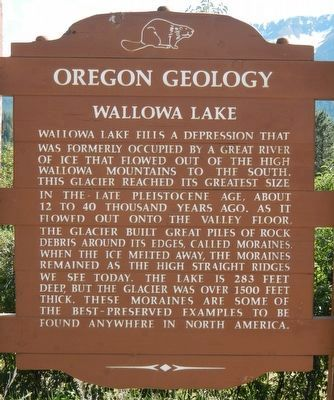 Wallowa Lake Marker image. Click for full size.