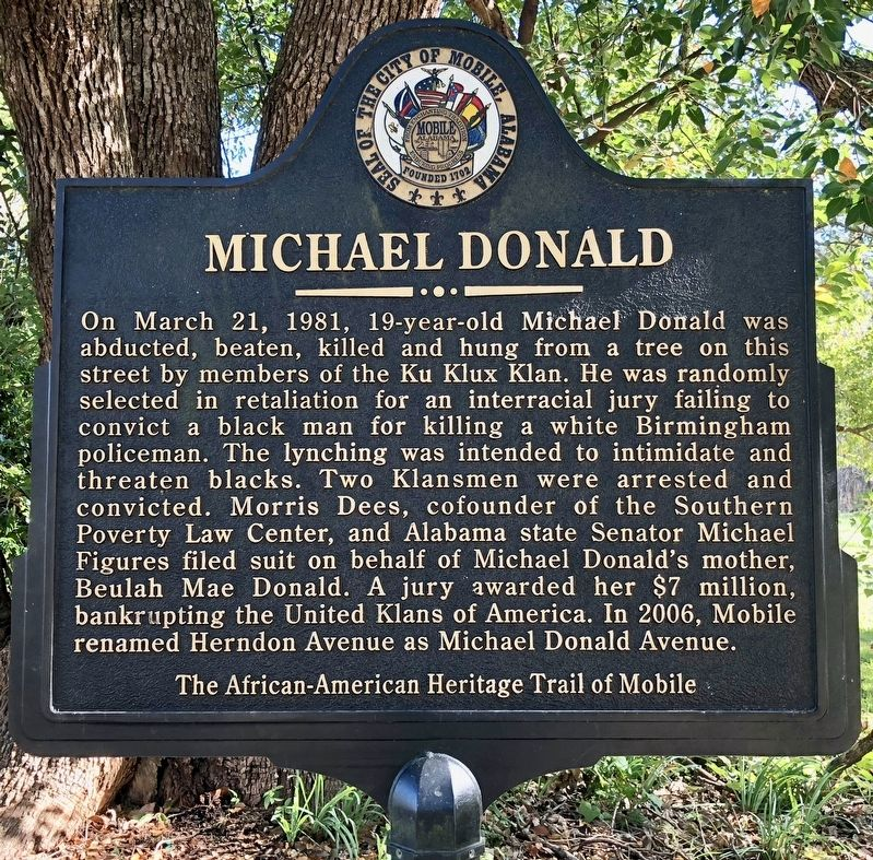 Michael Donald Marker image. Click for full size.
