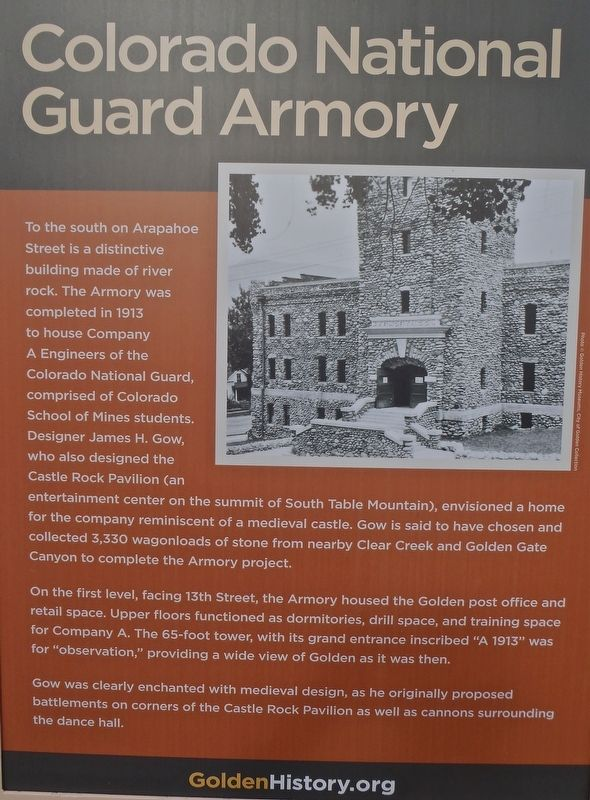 Colorado National Guard Armory Marker image. Click for full size.