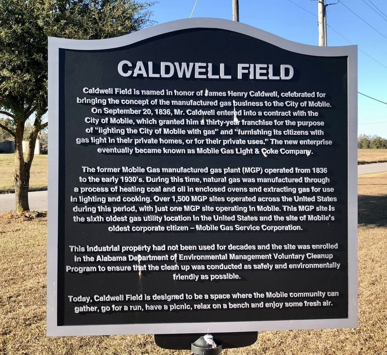 Caldwell Field Marker image. Click for full size.