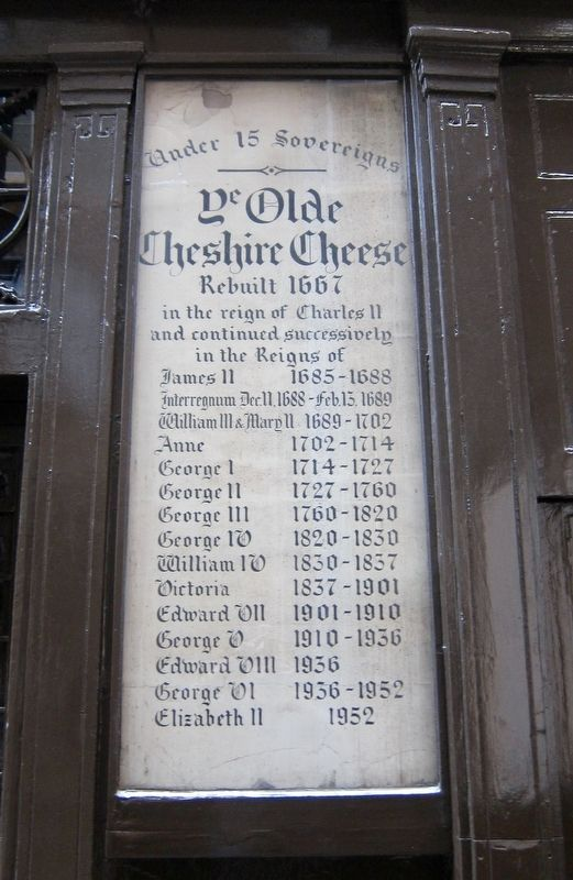 Ye Olde Cheshire Cheese Marker image. Click for full size.