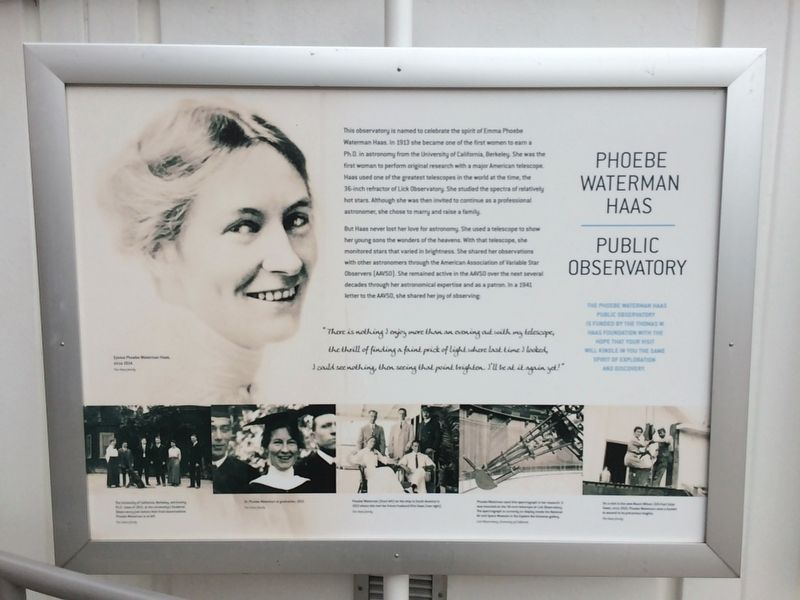 Phoebe Waterman Haas Marker image. Click for full size.