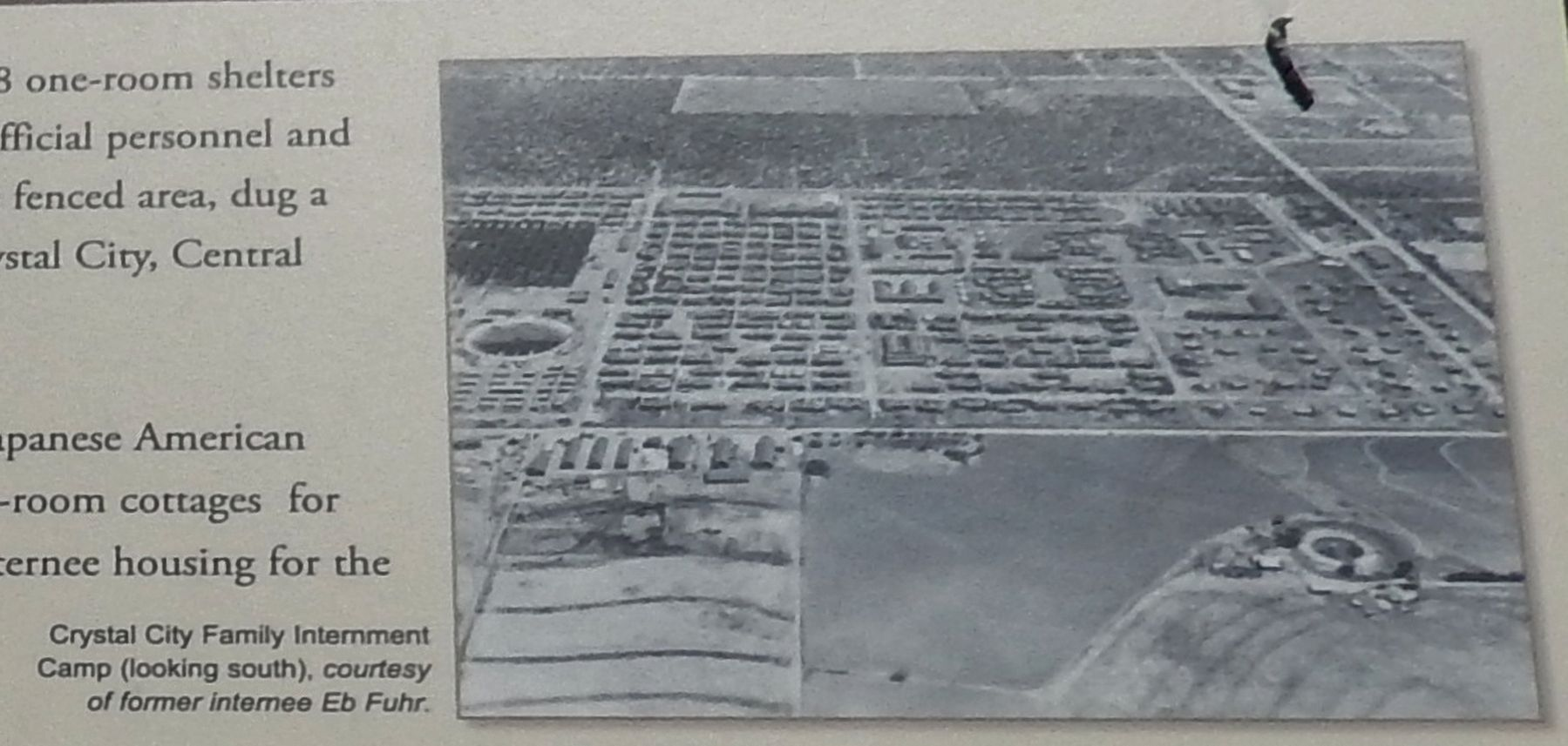 Marker detail: Crystal City Family Internment Camp Photo image. Click for full size.