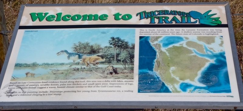 Welcome to Triceratops Trail Marker image. Click for full size.