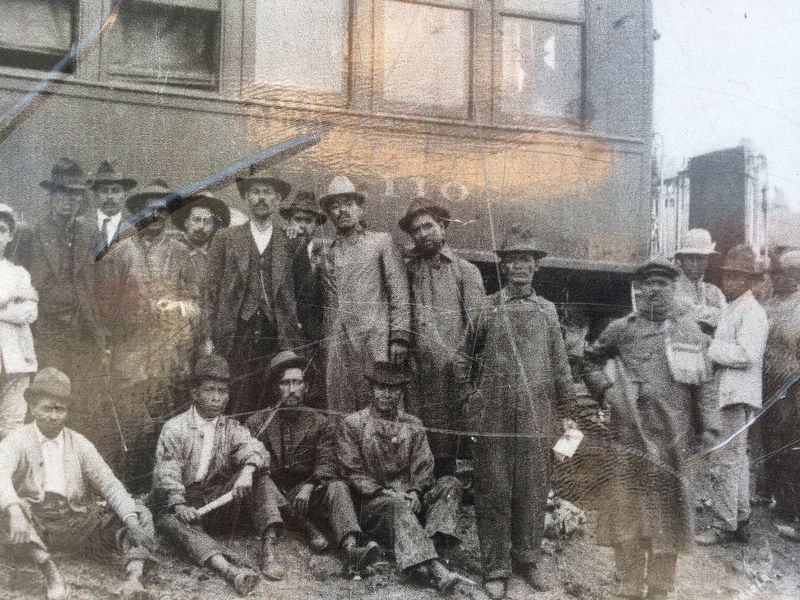Close-up of photo on the Railroads in the Mexican Revolution Marker image. Click for full size.
