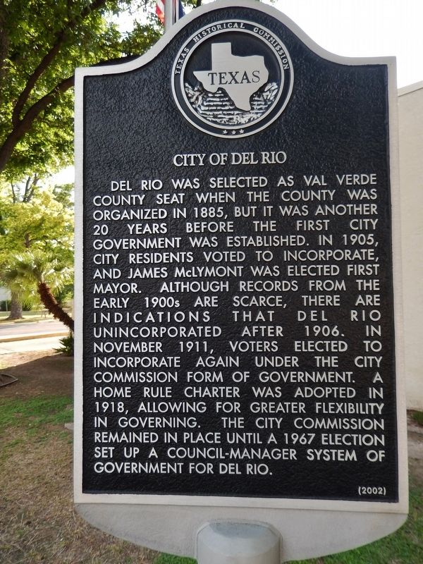 City of Del Rio Marker image. Click for full size.
