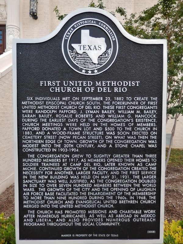 First United Methodist Church of Del Rio Marker image. Click for full size.