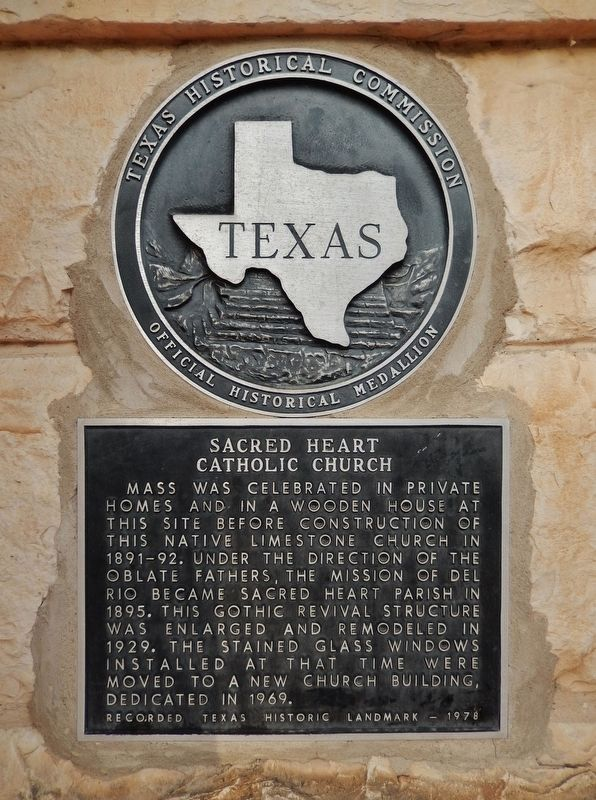 Sacred Heart Catholic Church Marker image. Click for full size.