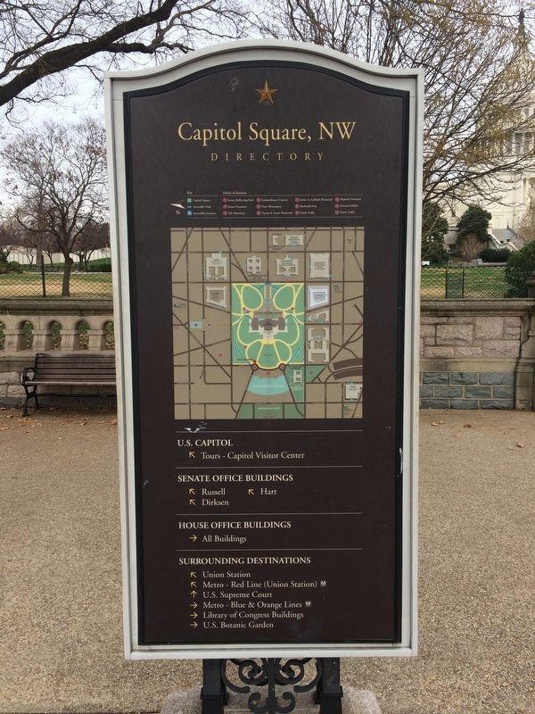 Capitol Square, NW Marker image. Click for full size.