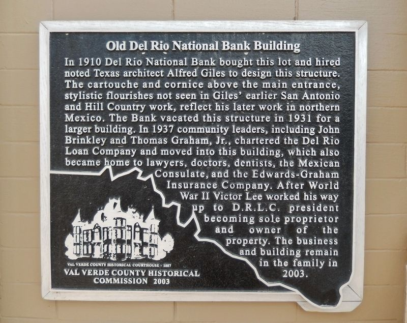 Old Del Rio National Bank Building Marker image. Click for full size.