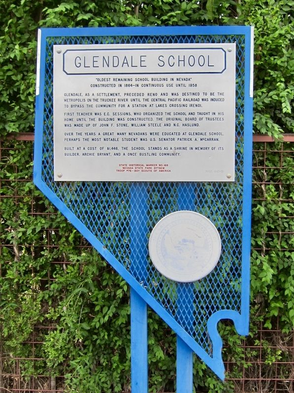 Glendale School Marker image. Click for full size.