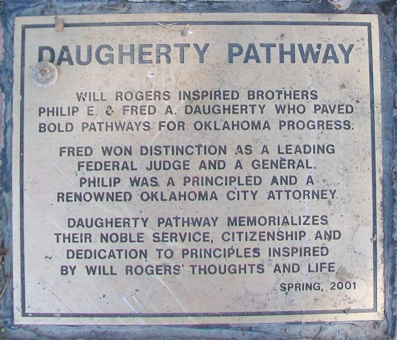 Daugherty Pathway Marker image. Click for full size.