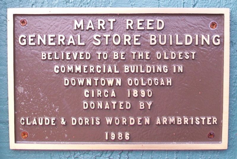 Mart Reed General Store Building Marker image. Click for full size.