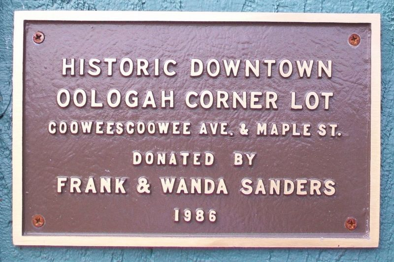 Historic Downtown Oologah Corner Lot Marker image. Click for full size.