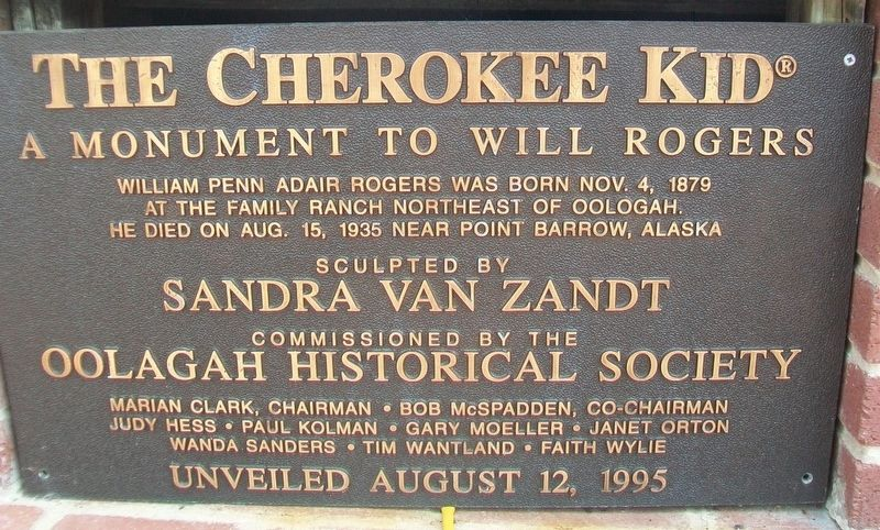 The Cherokee Kid Marker image. Click for full size.