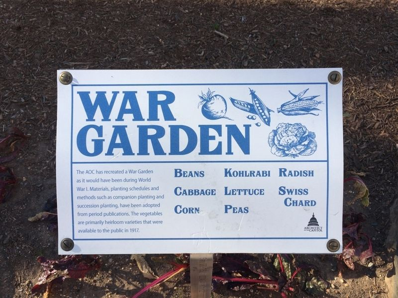 War Garden Marker image. Click for full size.