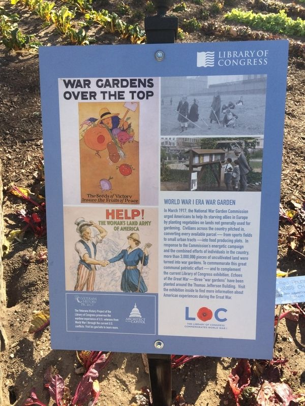 War Gardens Over the Top Marker image. Click for full size.