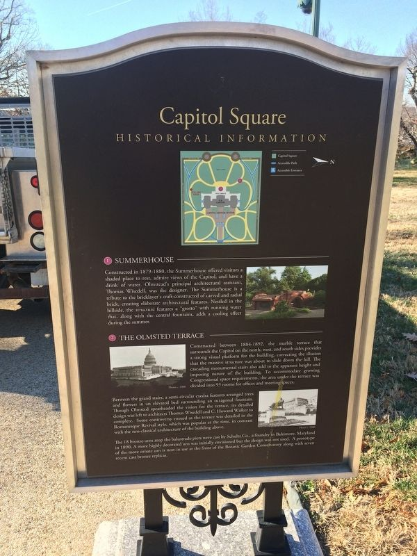 Capitol Square Marker image. Click for full size.