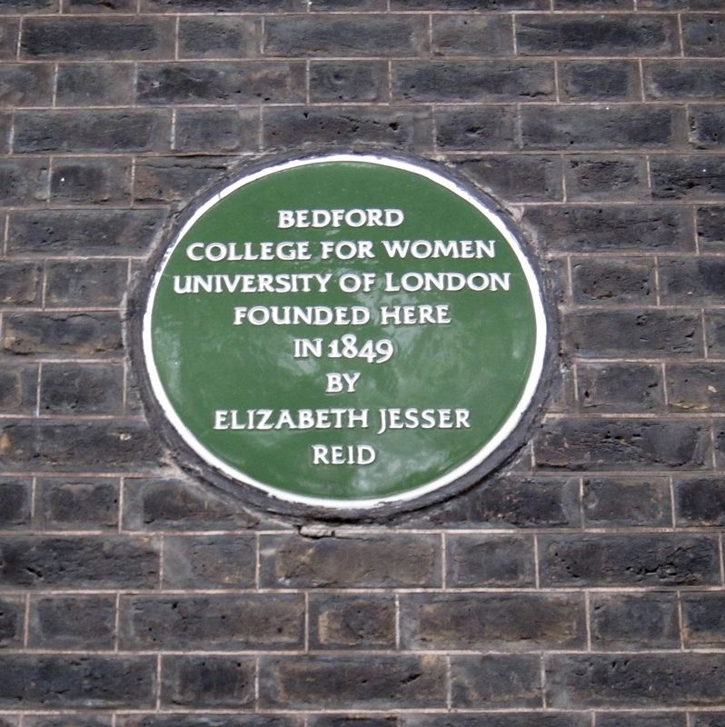 Bedford College for Women Marker image. Click for full size.