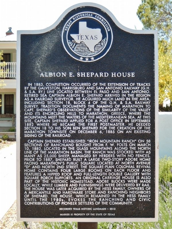 Albion E. Shepard House Marker image. Click for full size.
