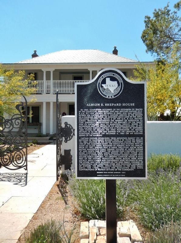Albion E. Shepard House Marker (<i>tall view</i>) image. Click for full size.