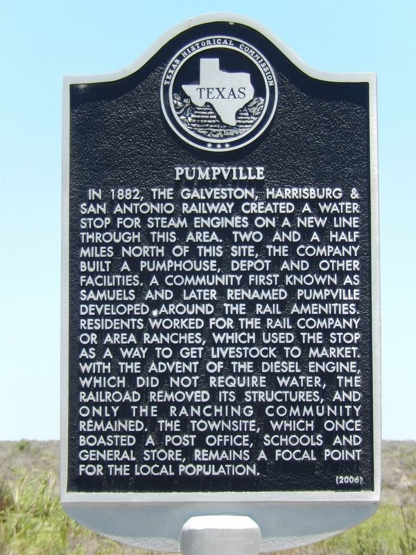 Pumpville Marker image. Click for full size.