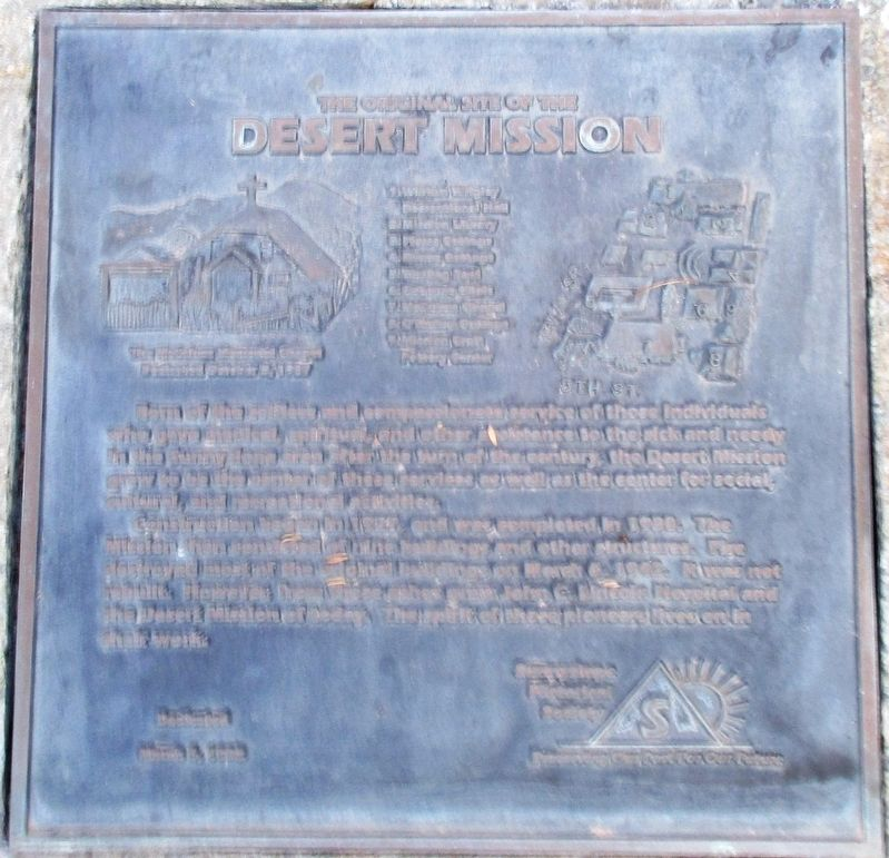 The Original Site of the Desert Mission Marker image. Click for full size.