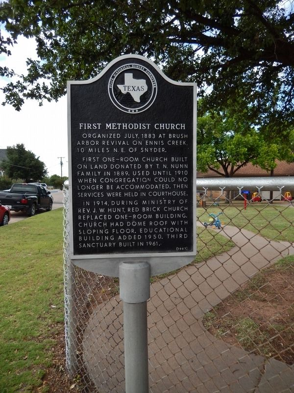 First Methodist Church Marker (<i>tall view</i>) image. Click for full size.