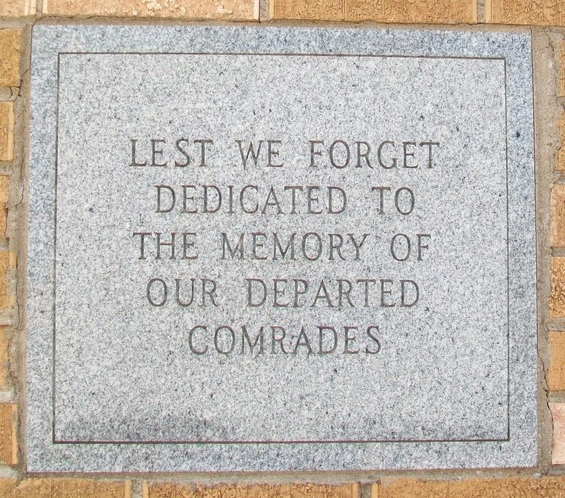 Veterans Building Dedication Marker image. Click for full size.