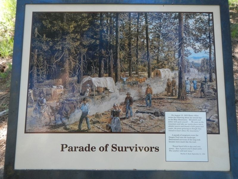 Parade of Survivors Marker image. Click for full size.