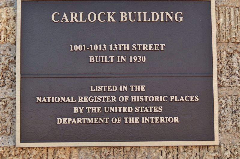 Carlock Building - National Register of Historic Places image. Click for full size.