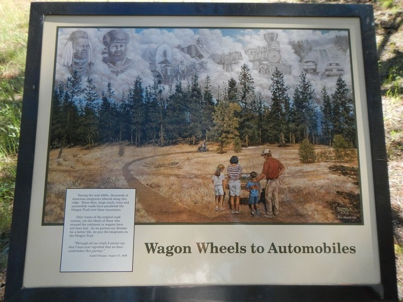 Wagon Wheels to Automobiles Marker image. Click for full size.
