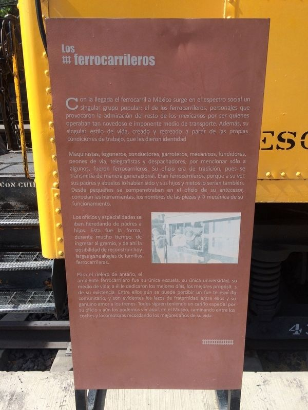 An additional nearby marker on 'The Railroad Men' image. Click for full size.
