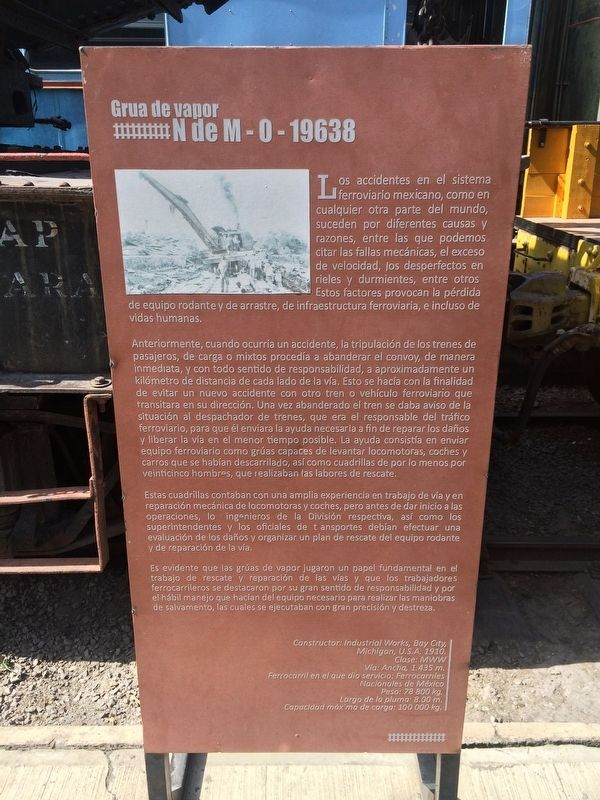 Steam Crane NM-0-19638 Marker image. Click for full size.