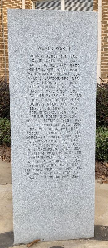 Rankin County War Memorial (WWII) image. Click for full size.
