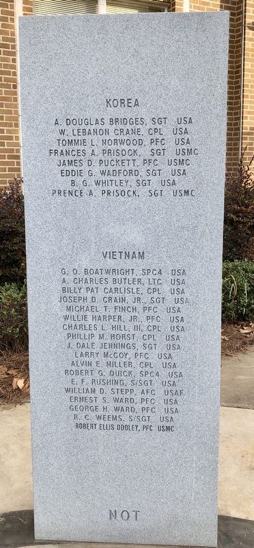 Rankin County War Memorial (Korea & Vietnam) image. Click for full size.