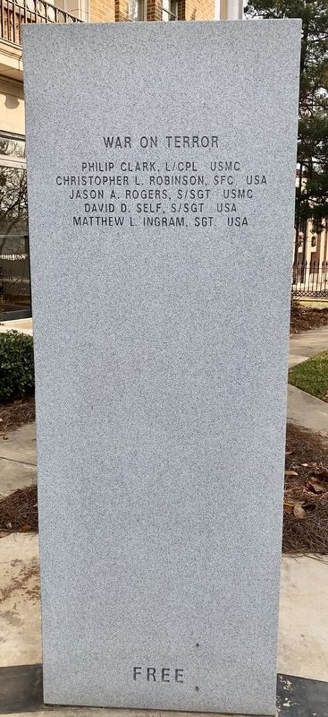 Rankin County War Memorial (War on Terror) image. Click for full size.