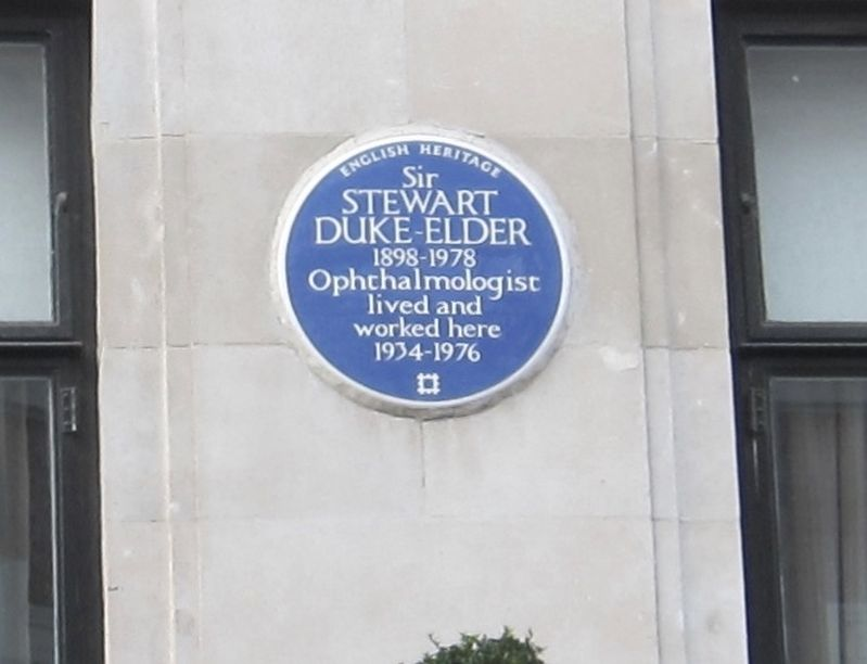 Sir Stewart Duke-Elder Marker image. Click for full size.