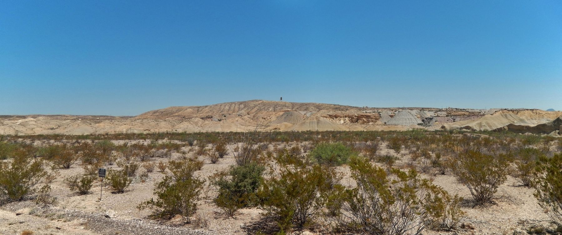 Terlingua Landscape (<i>view from marker</i>) image. Click for full size.