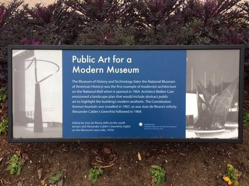 Public Art for a Modern Museum Marker image. Click for full size.