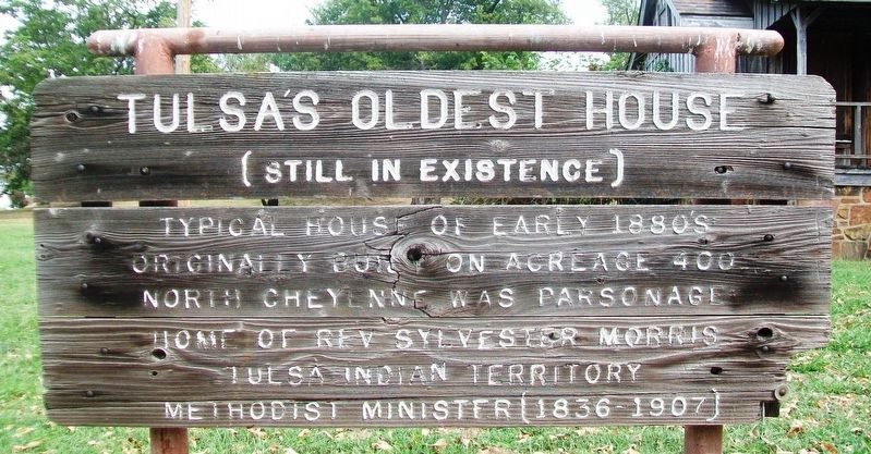 Tulsa's Oldest House Marker image. Click for full size.