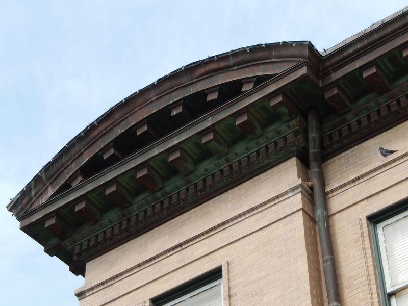 Hays County Courthouse (<i>cornice</i>) image. Click for full size.