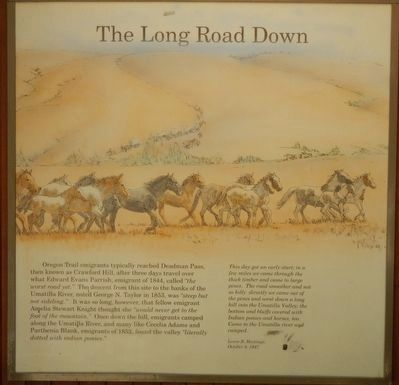 The Long Road Down panel image, Touch for more information